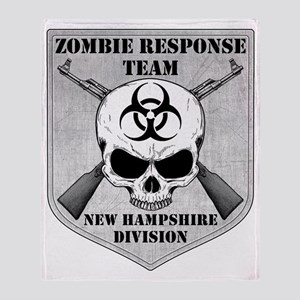 Zombie Response Team New Hampshire Throw Blanket