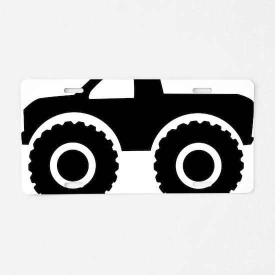 monster_truck Aluminum License Plate