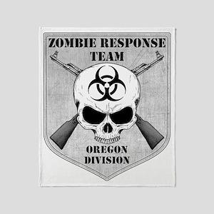 Zombie Response Team Oregon Throw Blanket