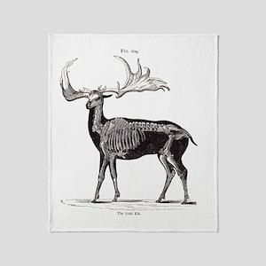 Irish Elk Throw Blanket