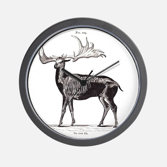 Irish Elk Wall Clock