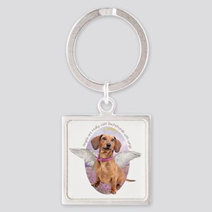 angelwithwings Square Keychain