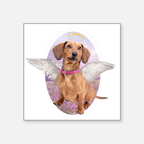 """angelwithwings2 Square Sticker 3"""" x 3"""""""