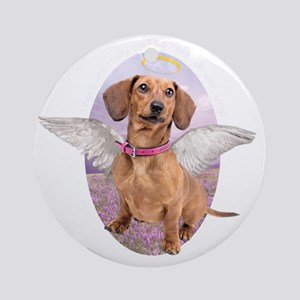 angelwithwings2 Round Ornament