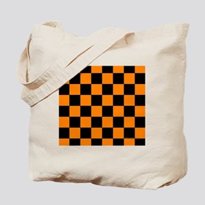 menswalletorangecheckerboard Tote Bag