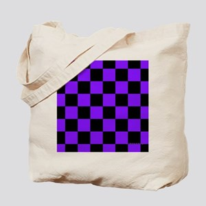 menswalletpurpcheckerboard Tote Bag