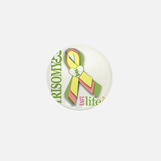 T13 Awareness Ribbon design Mini Button