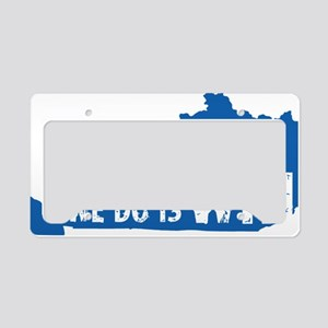 kentucky win blue License Plate Holder