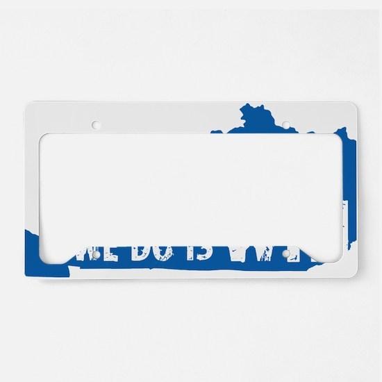 kentucky win blue License Plate Holder