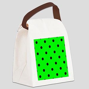 menswalletgrnpolkadot Canvas Lunch Bag