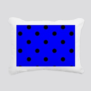 coinpursebluepolkadot Rectangular Canvas Pillow