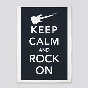 rock-on-poster 5'x7'Area Rug