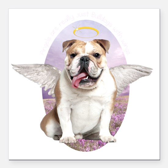 "angelwithwings2 Square Car Magnet 3"" x 3"""