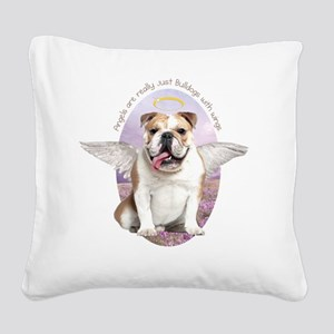 angelwithwings3 Square Canvas Pillow