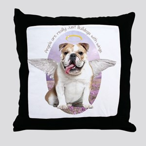 angelwithwings3 Throw Pillow