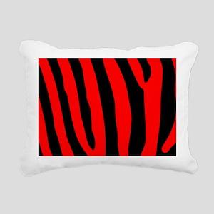 clutchbagredzebra Rectangular Canvas Pillow