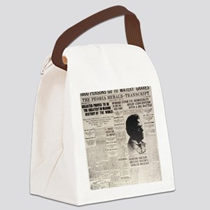 PEORIA HERALD TRANSCRIPT BIG Canvas Lunch Bag