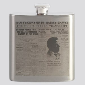 PEORIA HERALD TRANSCRIPT BIG Flask