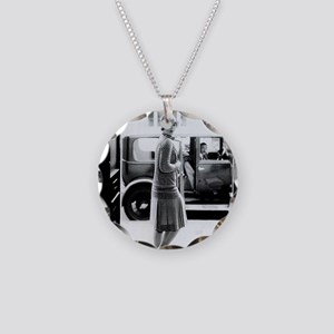 1920s 2 Necklace Circle Charm