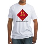 Love Fitted T-shirt (Made in the USA)