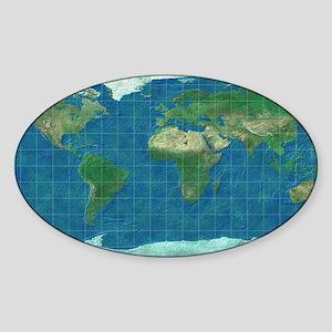 equirectangular_elefant-green_mr Sticker (Oval)
