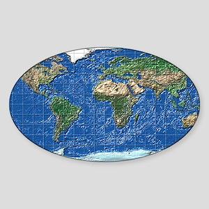 equirectangular_plastic2_mr Sticker (Oval)