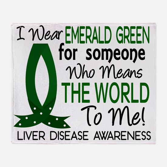 D Means The World To Me Liver Diseas Throw Blanket