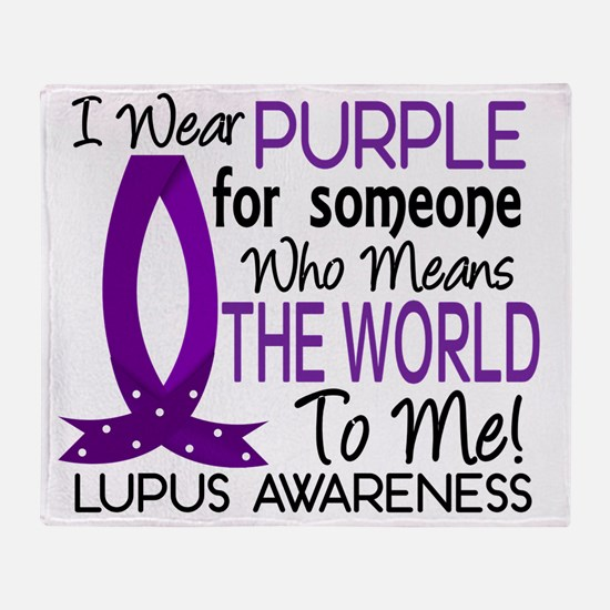D Means The World To Me Lupus Throw Blanket