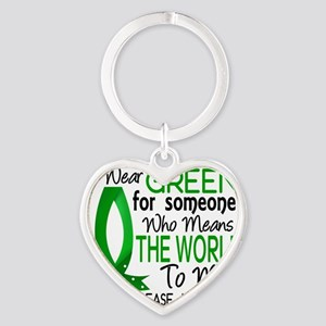 D Means The World To Me Kidney Dise Heart Keychain