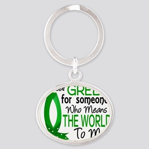 D Means The World To Me Kidney Disea Oval Keychain