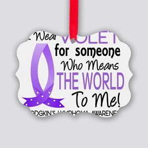 Means The World To Me Hodgkins Ly Picture Ornament