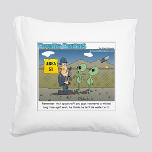 Area 51 Square Canvas Pillow