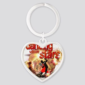 Dancing with the Stars Disco Balls  Heart Keychain