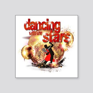 "Dancing with the Stars Disc Square Sticker 3"" x 3"""