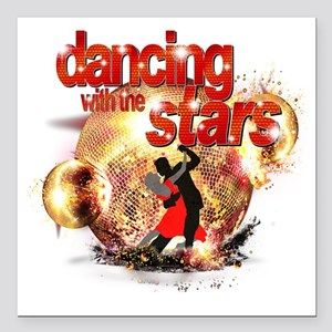 """Dancing with the Stars D Square Car Magnet 3"""" x 3"""""""