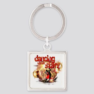 Dancing with the Stars Disco Balls Square Keychain