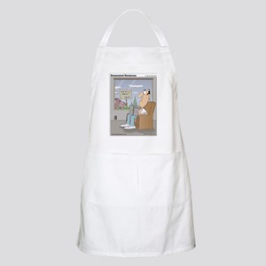 The bird feeder is empty! Apron
