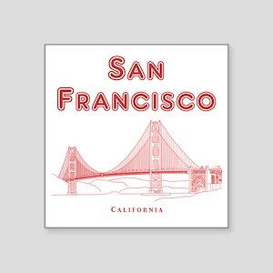 "SanFrancisco_10x10_GoldenGa Square Sticker 3"" x 3"""