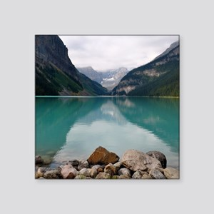 "Lake Louise Square Sticker 3"" x 3"""