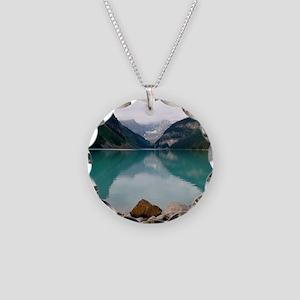 Lake Louise Necklace Circle Charm