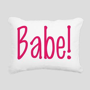 babe Rectangular Canvas Pillow