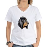 Women's Coonhound V-Neck T-Shirt