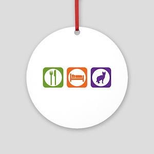 Eat Sleep Sokoke Ornament (Round)