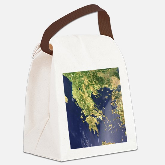 greece_satellite_2_1000 Canvas Lunch Bag