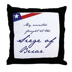 Siege of Bexar Throw Pillow
