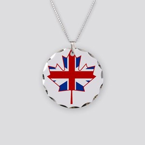 British in Canada Necklace Circle Charm