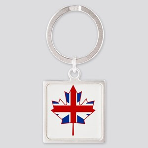 British in Canada Square Keychain