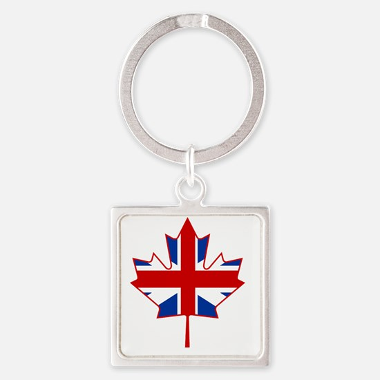 British in Canada Square Keychain