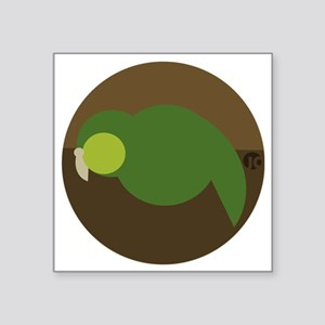 "kakapo circle Square Sticker 3"" x 3"""