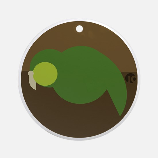 kakapo circle Round Ornament